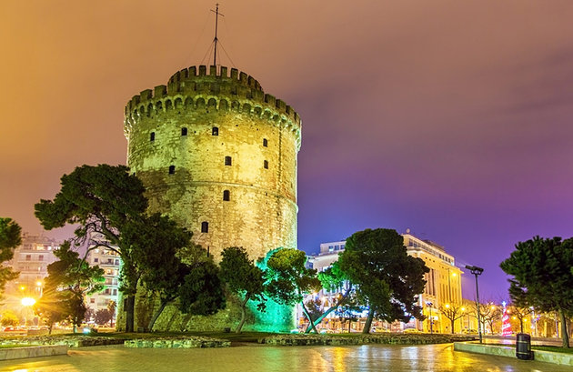greece-thessaloniki-white-tower-evening